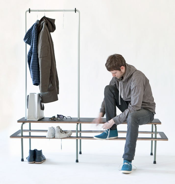 WARDROBE BENCH by Paul Evermann, photo by Matthias Ritzmann
