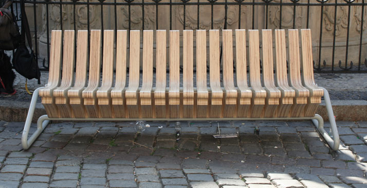 Coffee bench by Karolina Tylka