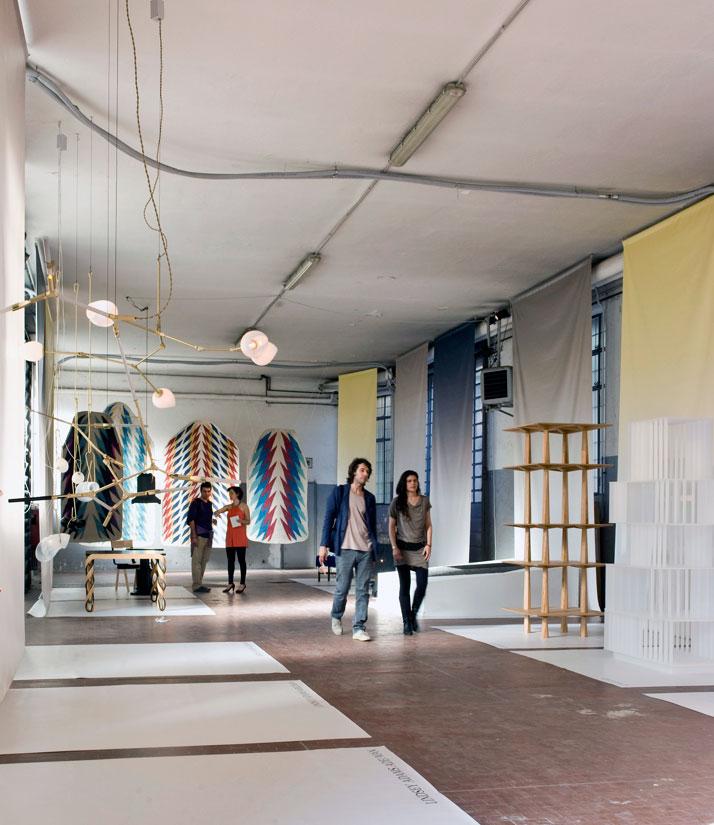 Installation view of pop-up Carwan Gallery in Ventura Lambrate, Milan 2011