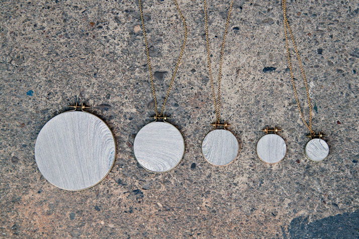 Sample series // NewspaperWood jewelry by rENsImage Courtesy of Vij5