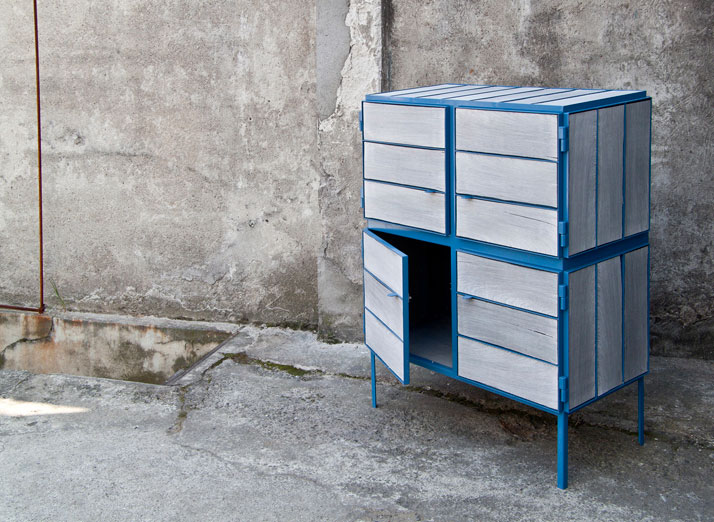 Framed // NewspaperWood cupboard by Breg HanssenImage Courtesy of Vij5