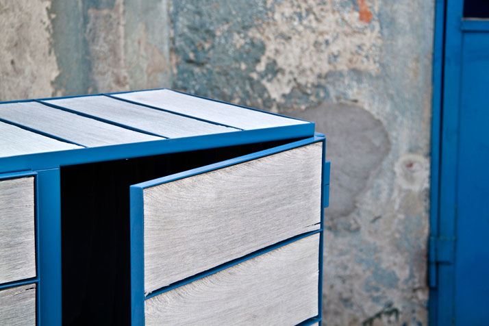 Framed // NewspaperWood cupboard by Breg Hanssen Image Courtesy of Vij5