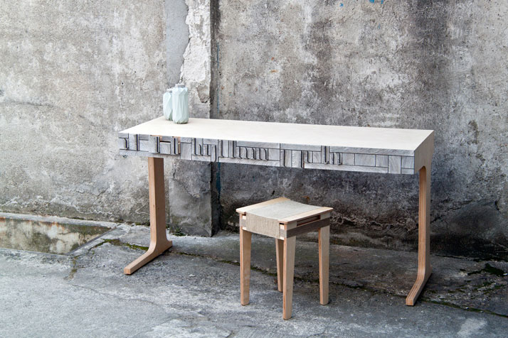 From A to Z // NewspaperWood desk by Greetje van TiemImage Courtesy of Vij5