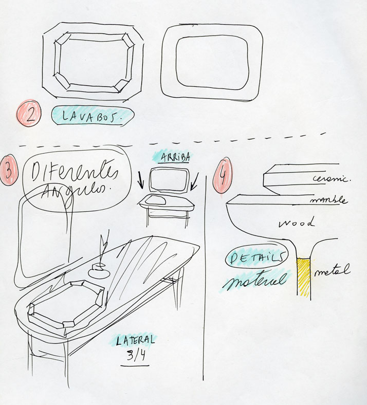 Bisazza bagno sketch © Jaime Hayon