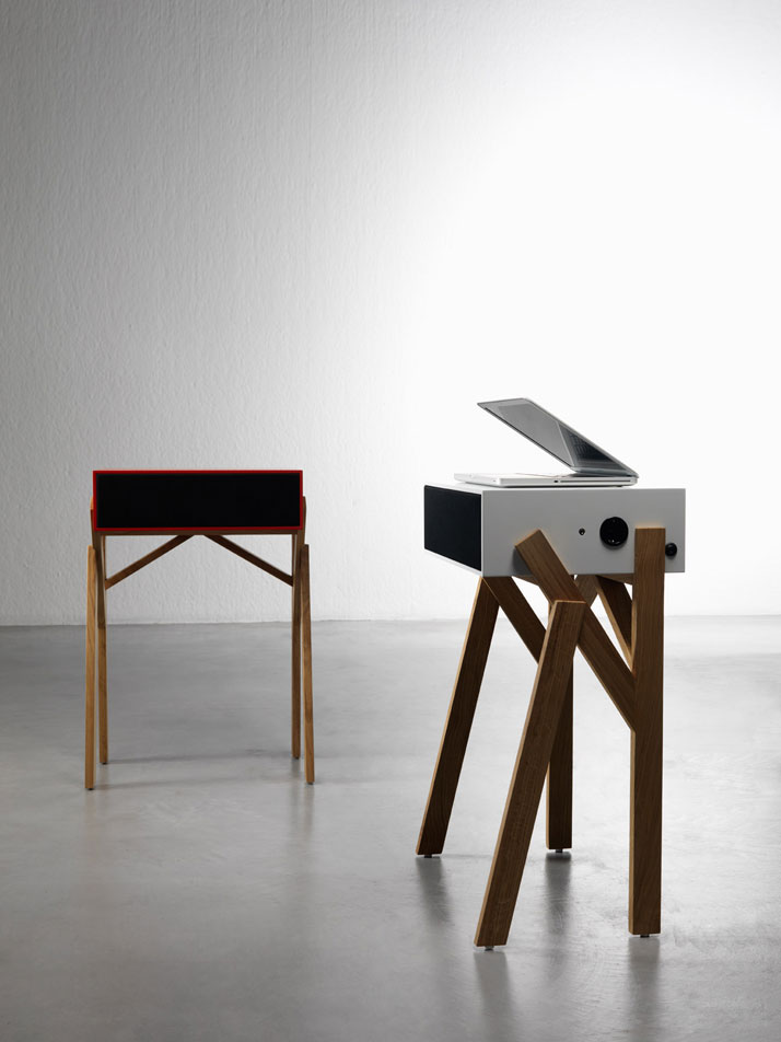 Torototela, micro desk/ipod speaker system, Image Courtesy of Paolo Cappello