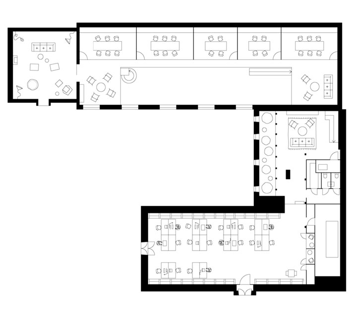Plan First Floor © Elding Oscarson