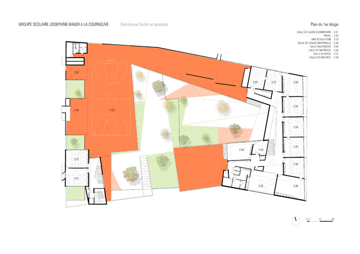 plan © Dominique Coulon & Associés, Architectes