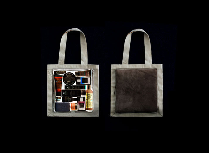 Kiehl's tote bag (front and back views), photo @ Costas Voyatzis for Yatzer.com
