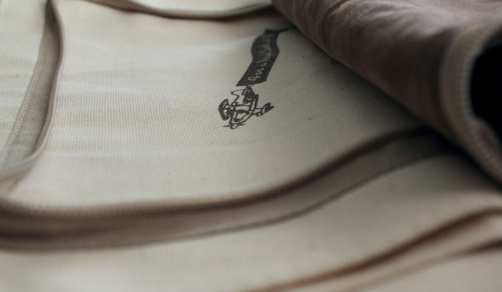 Kiehl's tote bag (making of - detail), photo @ Costas Voyatzis for Yatzer.com