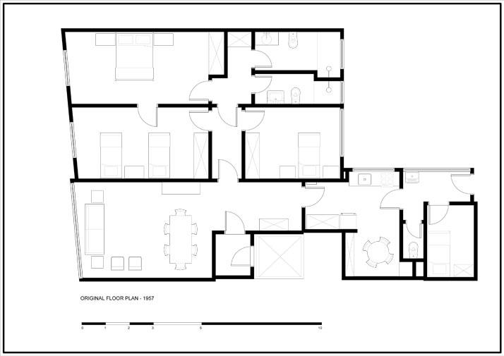 Original Floor Plan - 1957 © Mauricio Arruda