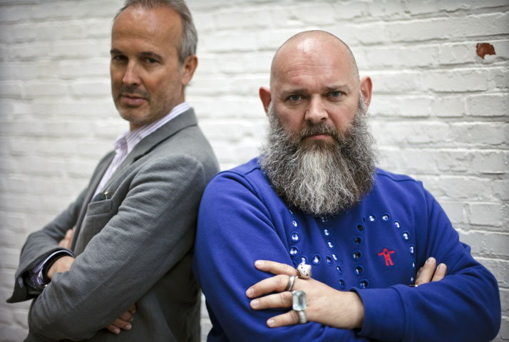 Erwin Wurm and Walter van Beirendonck photo © Jesse Willems