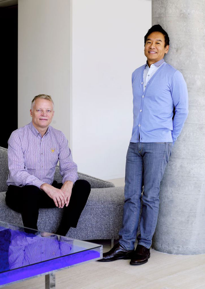 George Yabu (right) and Glenn Pushelberg (left) photo © Richard Powers