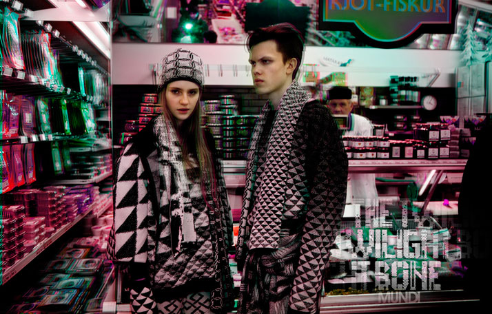 "AW12 Teaser ""The Twilight Bone""Shot by Spessi, styled and photoshoped by Mundi models are Brynja and Stefán."