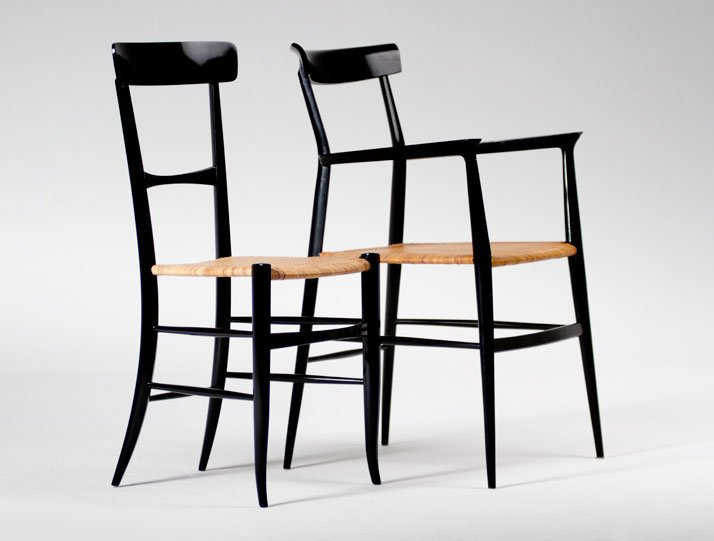 V o w n 24 yatzer presents 39 39 la sedia leggera di for Chaise bistrot noire