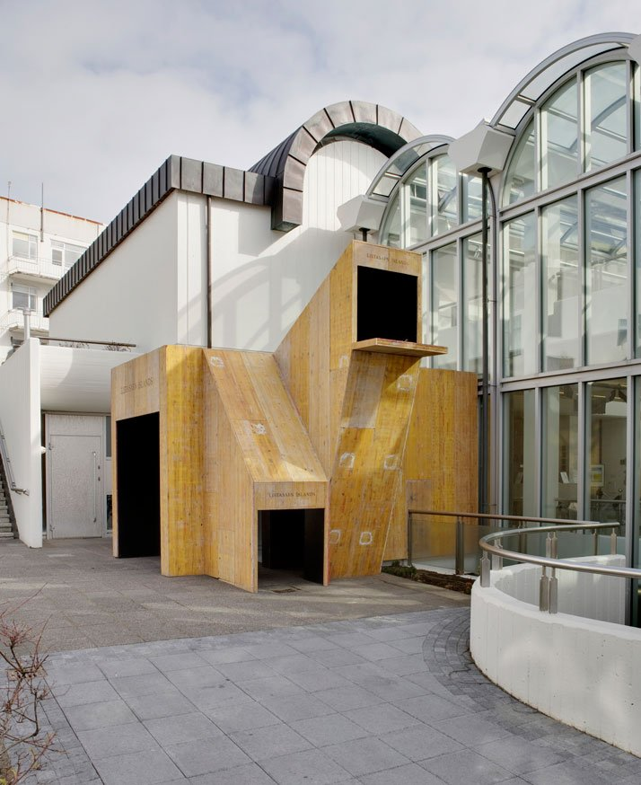 Entrance (2010) In collaboration with Kristjan EggertssonReclaimed shuttering boards and wood.Dimensions: ca. 15 m2, max. height ca. 4,5 metersThe Na