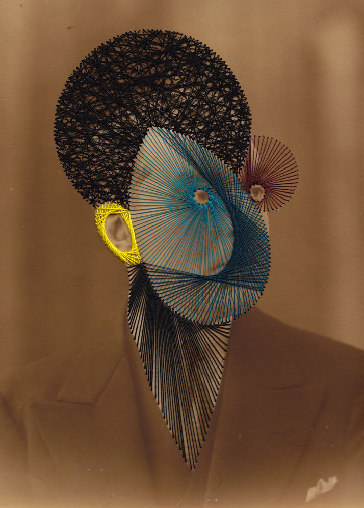 Peter, Embroidery on print photo © Maurizio Anzeri