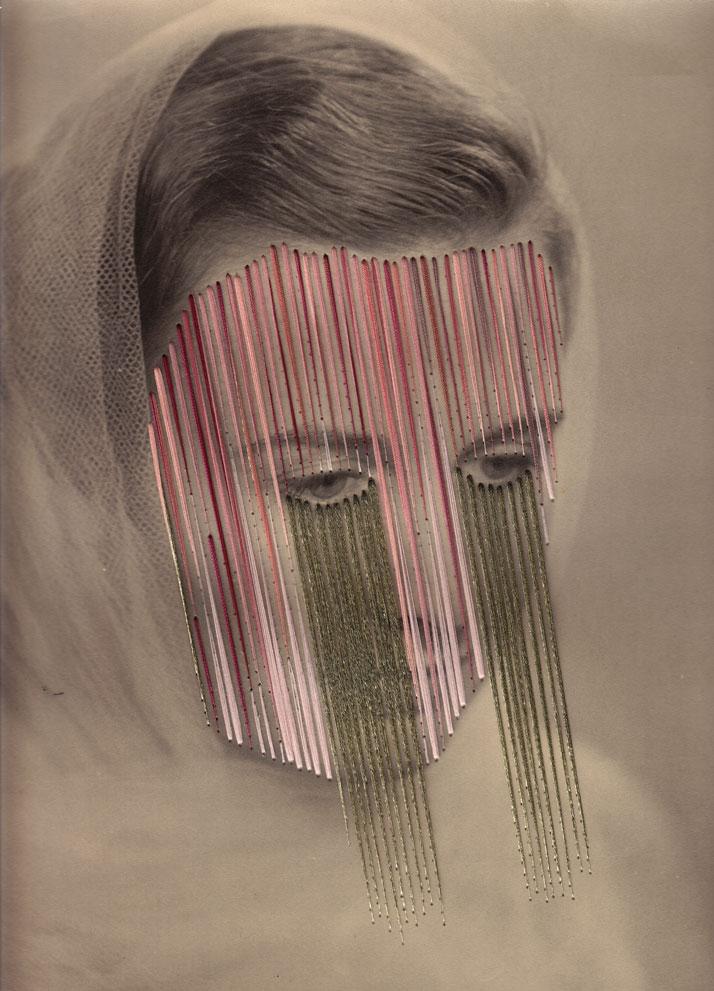 Nadia, Embroidery on print photo © Maurizio Anzeri