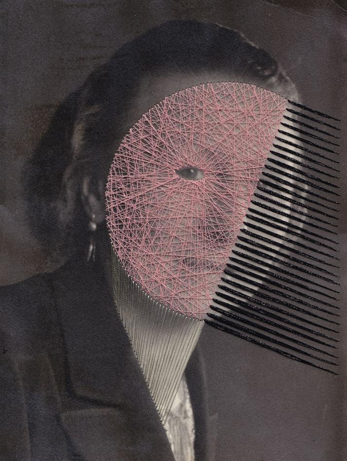 Louise B, Embroidery on printphoto © Maurizio Anzeri
