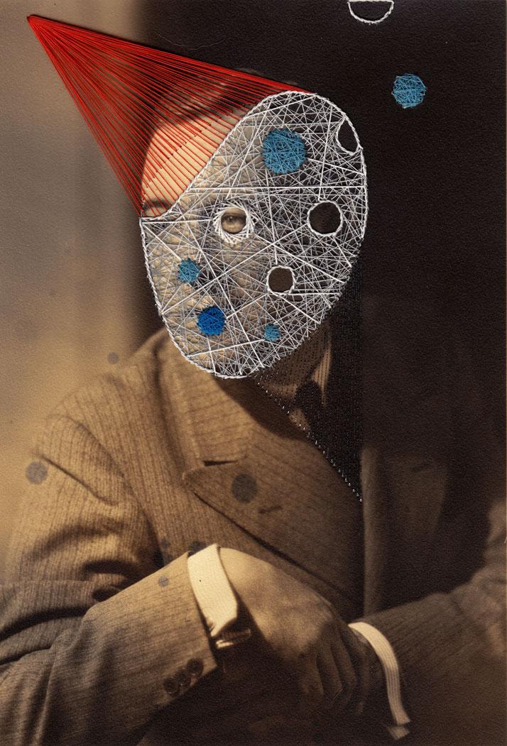Barnaba, Embroidery on printphoto © Maurizio Anzeri