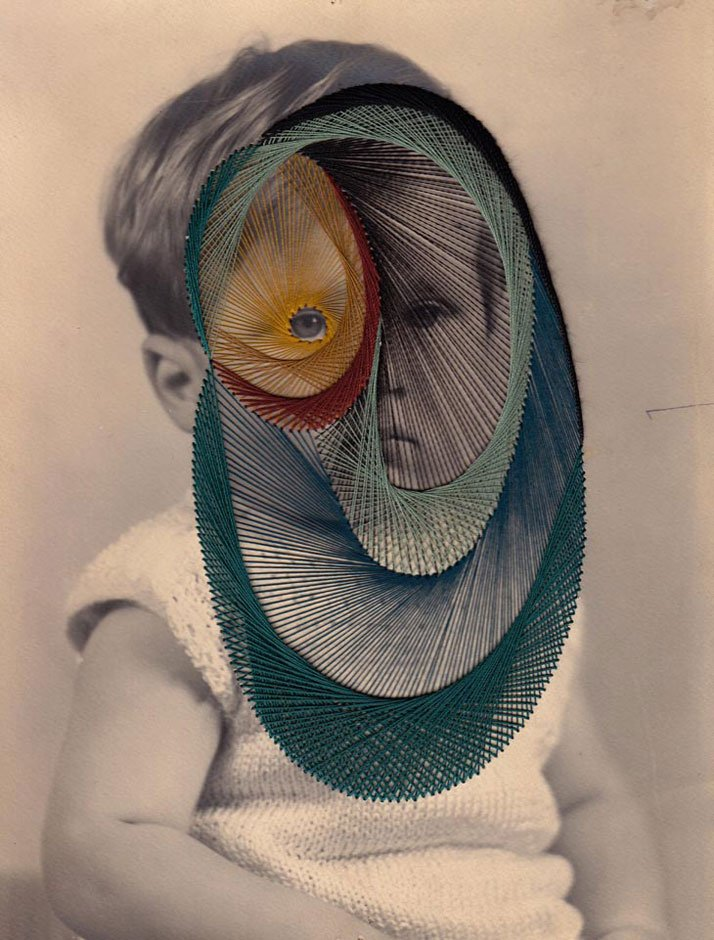 Penny, Embroidery on printphoto © Maurizio Anzeri