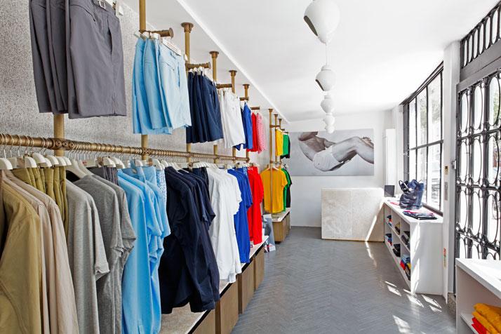 Interior design for Orlebar Brown shop in Notting Hill, photo © James McDonald