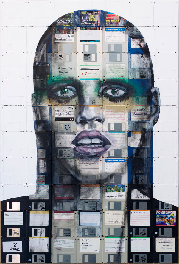 Floppy Portraits by Nick Gentry | Yatzer
