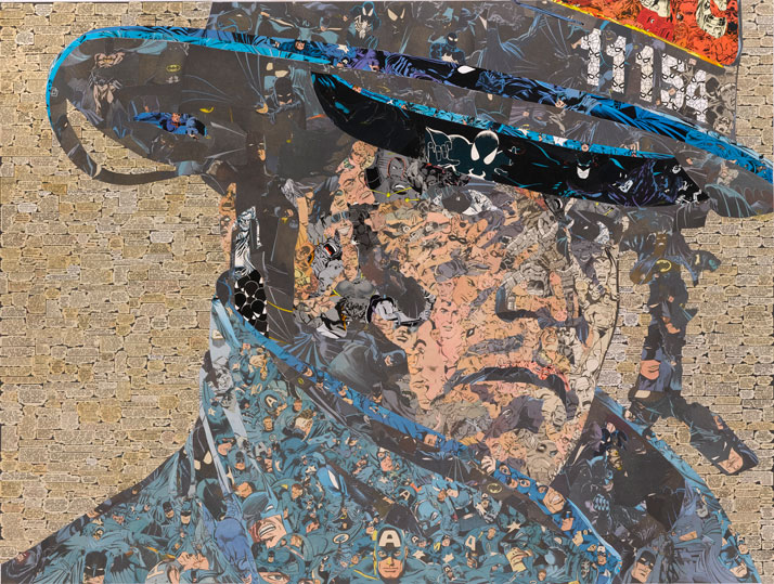 Ben Turnbull // Hero V, 2010Comic collage on wood // 91 x 119 cmCourtesy of Eleven, London and the artist