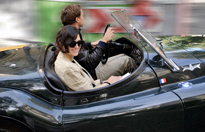 Jaguar XK120 roadster - 1950 // Etienne Raynaud with Ami Kealoha, photo © Xavier Lavictoire