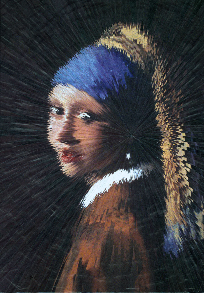 Exploded Girl with the Pearl Earing, Vermeer // photo © Lola Dupré