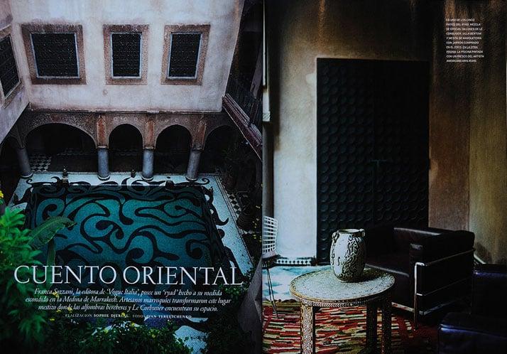 Franca Sozzani's Marrakech house, photographs by Ivan TerestchenkoCourtesy of AD France