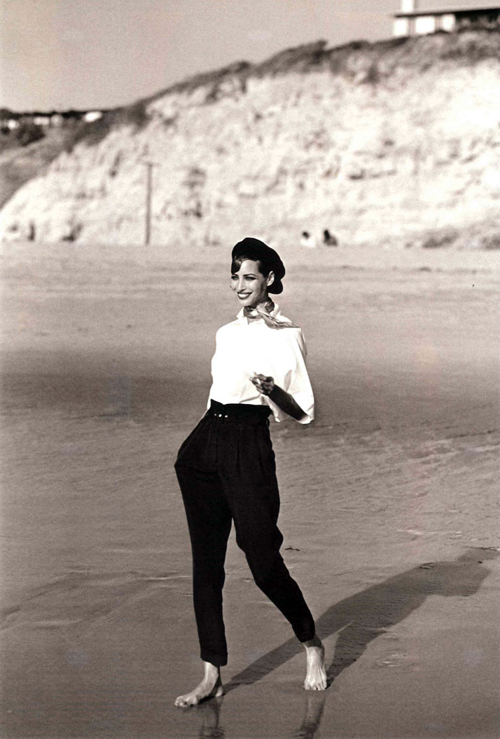 Spring-Summer 1991 (Malibu) Christy Turlington by Peter LindberghImage Courtesy of ASPESI (Archives)