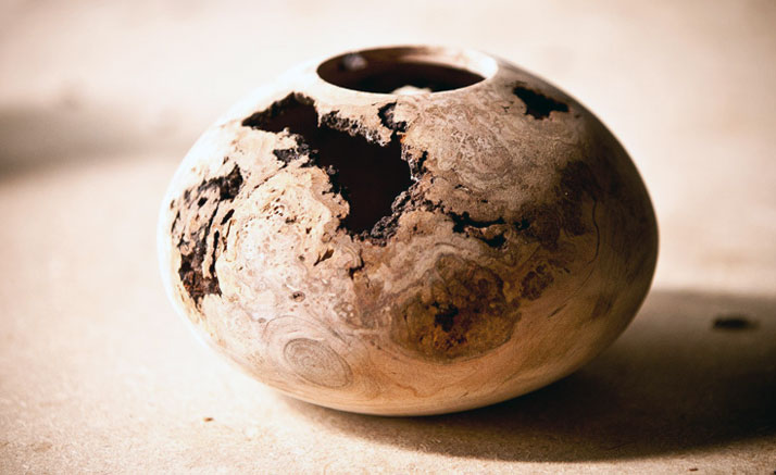 A small cherry burl turning, roughly 8'' diameterphoto © Mindy Best, Courtesy of The Scout