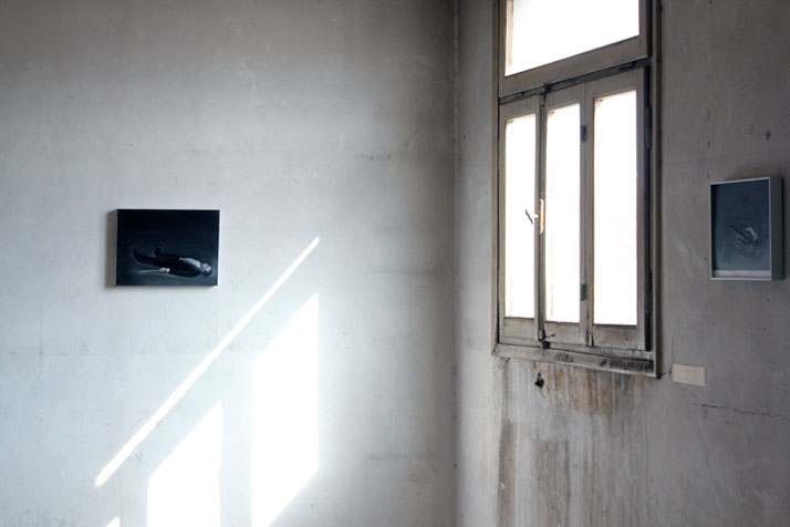 3rd Athens Biennale 2011 MONODROMEVangelis GokasDead Conductor, 2010Oil on canvas30 x 40 cmCourtesy of the artist and Elika Gallery installation view,