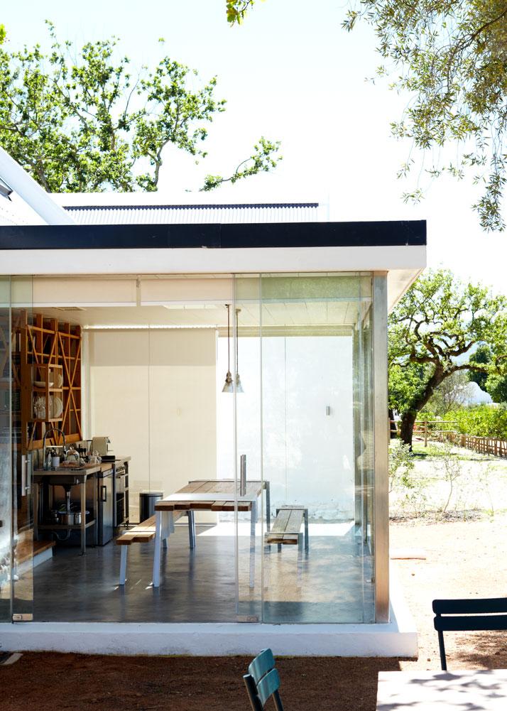 Cottage livingroom and kitchen,  photo © Babylonstoren