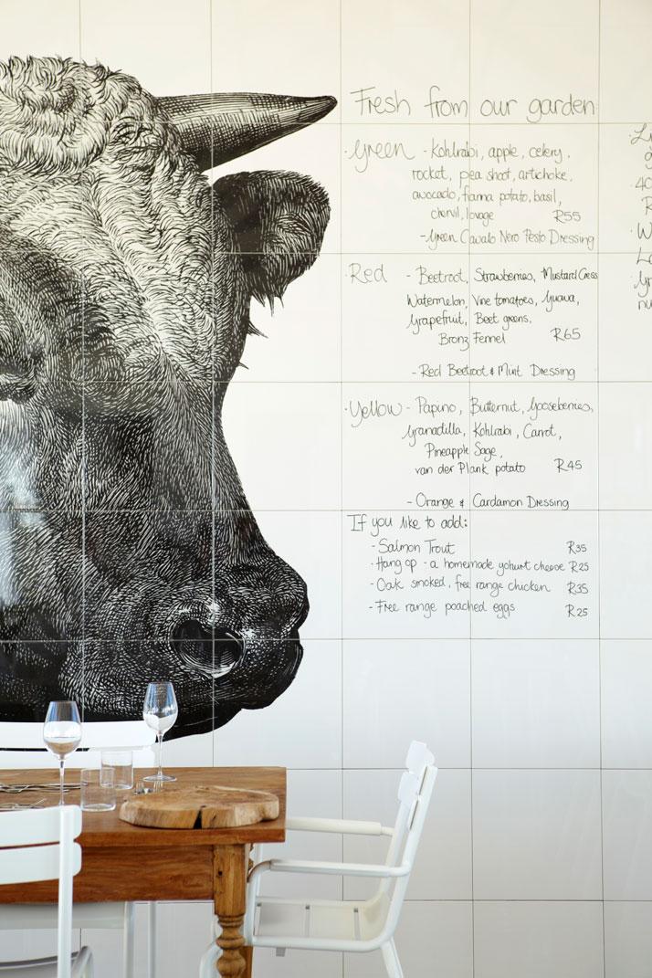 Daily MENU at BABEL Restaurant, photo © Babylonstoren