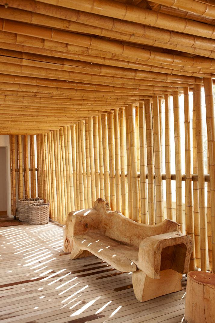 Spa / bamboo reception,  photo © Babylonstoren