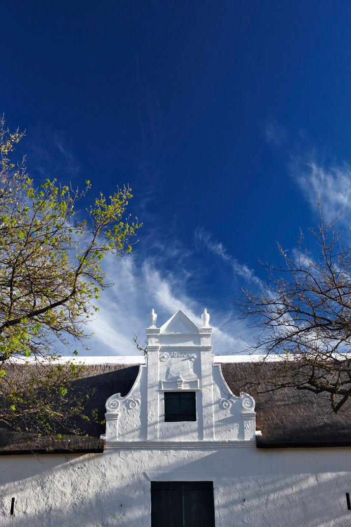 Historical Cape Dutch gable, photo © Babylonstoren