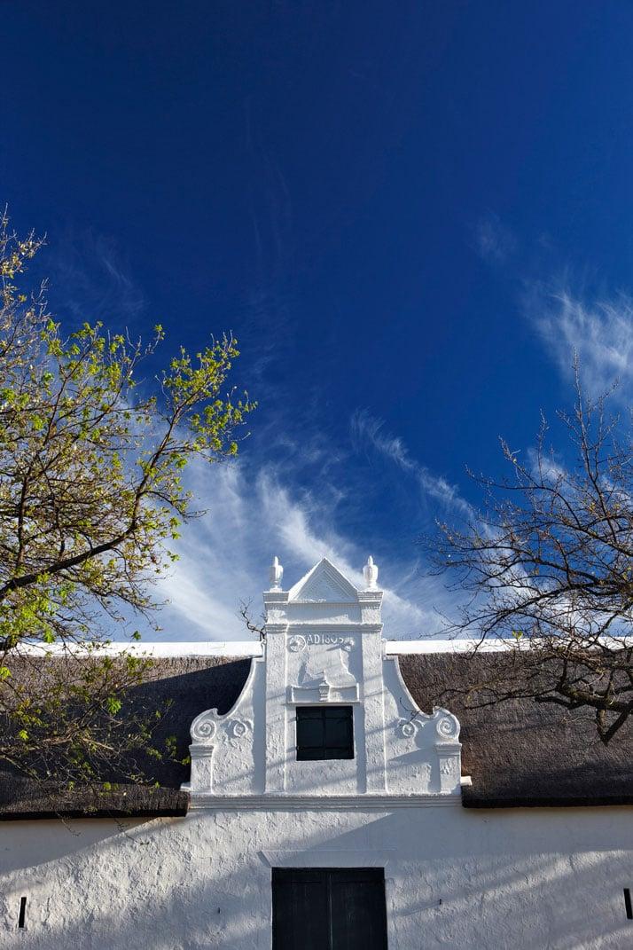Historical Cape Dutch gable, photo © Babylonstoren