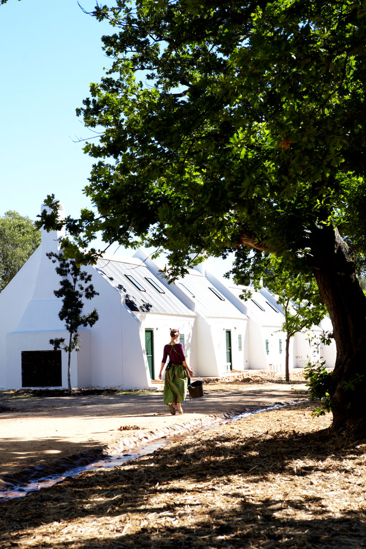 Accomodation farm cottages overlooking the garden and mountains,  photo © Babylonstoren
