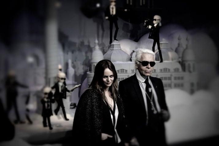 Vanessa Paradis and Karl Lagerfeld, photo © Costas Voyatzis for Yatzer.com