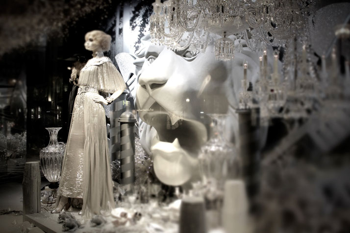 'Dreams Of Far Away' by Karl Lagerfeld for Printemps Karl Lagerfeld and CHANEL for Printemps xmas windows 9 November 2011 Paris  photo Costas Voyatzis for yatzer 15