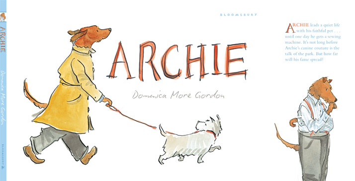 Domenica More Gordon's first illustrated dog book for Bloomsbury // Front Cover