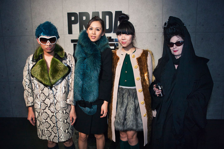 Bryanboy, Rumi Neely, Susie Bubble and Diane PernetImage Courtesy of PRADA