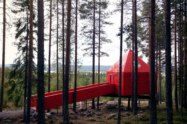 The Blue conePhoto © Peter Lundstrom, WDO | Treehotel