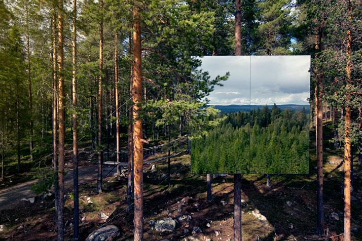 The Mirror cubePhoto © Peter Lundstrom, WDO | Treehotel