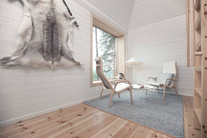 The Blue cone (interior)Photo © Peter Lundstrom, WDO | Treehotel