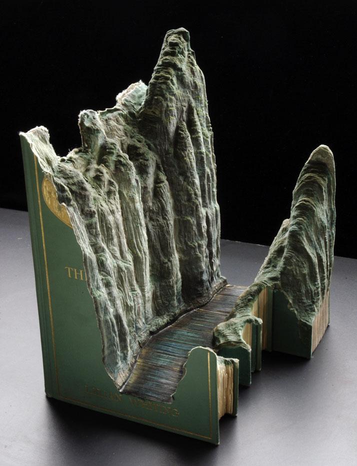 The carved book landscapes of guy laramée yatzer