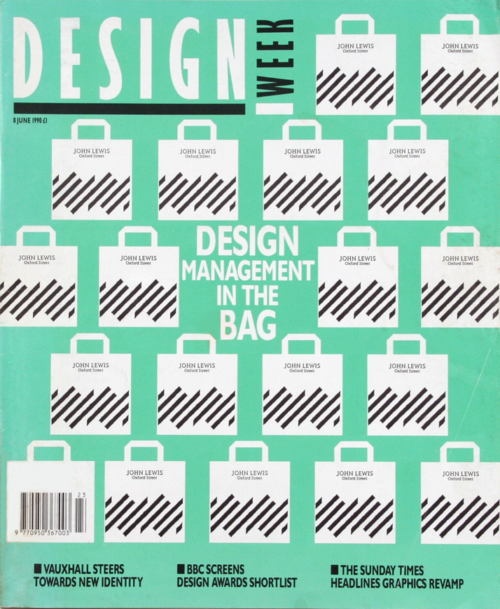 John Lewis Partnership, Design Week cover, June 1990 Image Courtesy of John Lloyd Archive