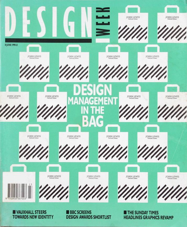 John Lewis Partnership, Design Week cover, June 1990 Image Courtesy of John Lloyd Archive