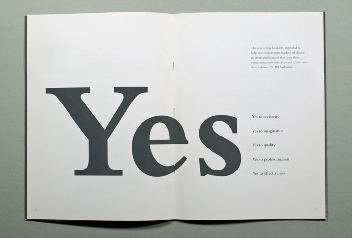 BAA // Guidelines that explain how the BAA identity should be used in printed communications. 1998. Image Courtesy of John Lloyd Archive